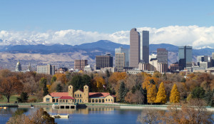 Denver Skyline Mountains